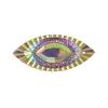Resin Sew-on Piikki Stones 10pcs 18x40mm Navette Pink Aurora Borealis